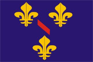 [flag of Principality of Dombes, to 1762]
