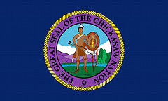 [Chickasaw Nation of Oklahoma flag]