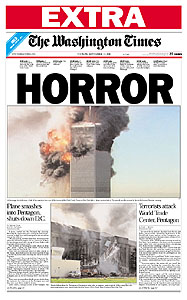 [Washington Times, DC  9/11/01]